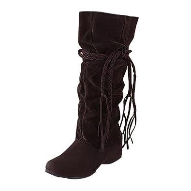 more photos 044e8 4f82b FNKDOR Damen Unsichtbarer Absatz Stiefel Boots Rutschfest Winterstiefel  Elegant Schuhe