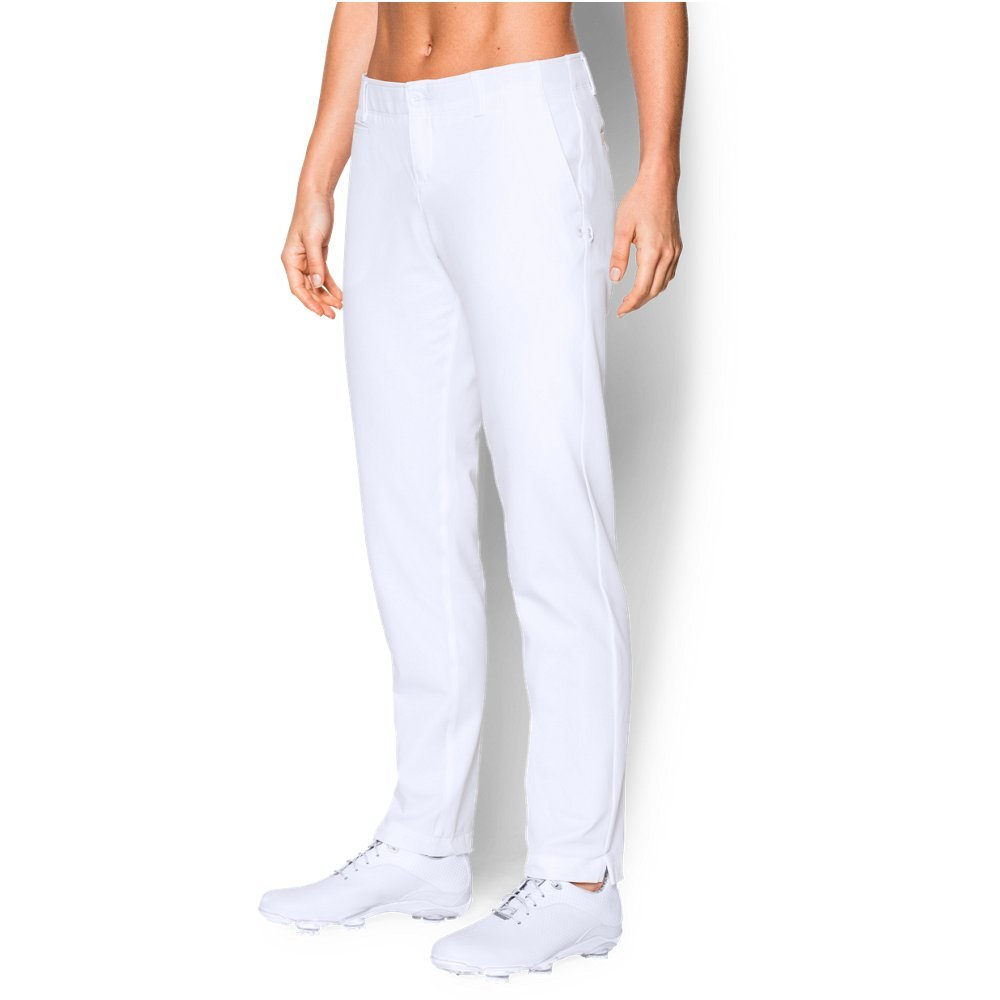Under Armour Women's Links Pants, White (100)/White, 14 by Under Armour
