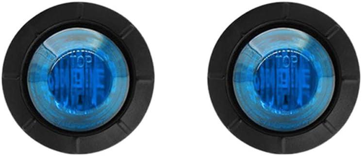 Lot de 2 feux de gabarit ronds /à 3 LED /étanches 12 V pour voiture et camion