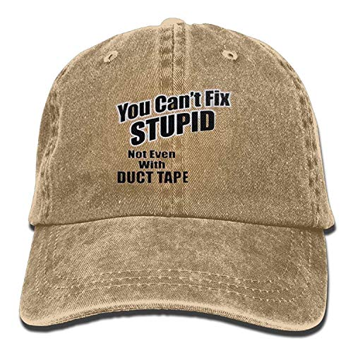 You Can't FIX Stupid NOT Even with Duct Tape Fashion Washed Denim Cotton Sport Outdr Baseball Hat Adjustable One Size ()
