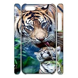 Unique Design Durable Hard Cover Case Cover for Iphone 5C 3D Phone Case - Cool Tiger HX-MI-013813