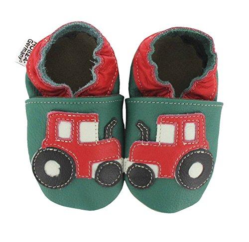 HOBEATractor - Zapatos de Bebé para bebés, unisex Verde (Green)