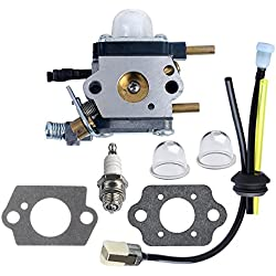 HIPA C1U-K54A Carburetor with Gasket Fuel Repower Kit Spark Plug for Echo Mantis Tiller 7222 7222E 7222M 7225 7230 7240 7920 7924 TC210 TC2100 Cultivator