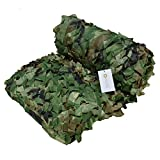 Omonic 210D Camouflage Net Desert Woodland Camo Netting for Camping Military Hunting Shooting Sunscreen Netting (Army Green, 5-23ft(1.5-7m))