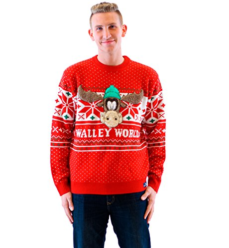 Christmas Vacation Ugly Sweater (Christmas Vacation Marty Moose Walley World Red Ugly Christmas Sweater (Adult)