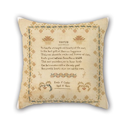 TonyLegner Cushion Cases of Oil Painting Emily F. Cooley - Sampler for Kids Car Festival Kids Boys Couch Dining Room 18 X 18 Inches / 45 by 45 cm(2 Sides)