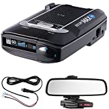 Escort Max 360 Radar Detector Power Bundle Includes, Car Mirror Mount Bracket For Radar Detectors + Radar Detector Direct Wire Power Cord