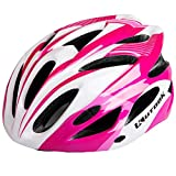 KUTOOK Bike Helmet Road Mountain Cycling Helmet for Adults (23″-24″; 58-62cm), Pink White For Sale