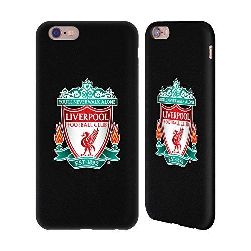 Offizielle Liverpool Football Club Vollfarbe Crest Schwarz Rückseite Handyhülle Aus Leder Für Apple iPhone 6 / 6s