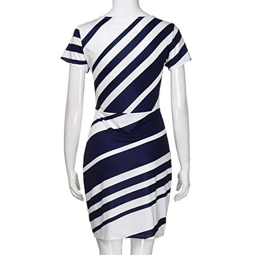 Casual Stripe Dresses NREALY Working Blue Falda Mini Women's Pencil Dresses Party Dress r8X18vqA