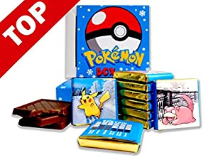 POKEMON BOX WITH CHOCOLATE! ☀ It's funny gift food will be a great holiday gift idea! 8 pieces of chocolate! (Winter)