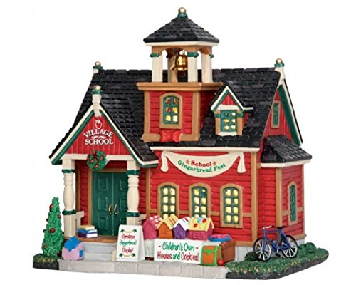 Lemax Village Collection Red School Gingerbread Fest #55949