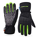 AINIYF Ski Gloves | Motorcycle Winter Racing Off-Road Riding Locomotive Touch Screen Drop-Slip All-in-One Tactical Mittens Knight Warm (Color : Green, Size : M)