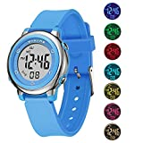 Kids Digital Watches, Boys Girls Sports Outdoor 50m Waterproof Electrical Wristwatch with Alarm