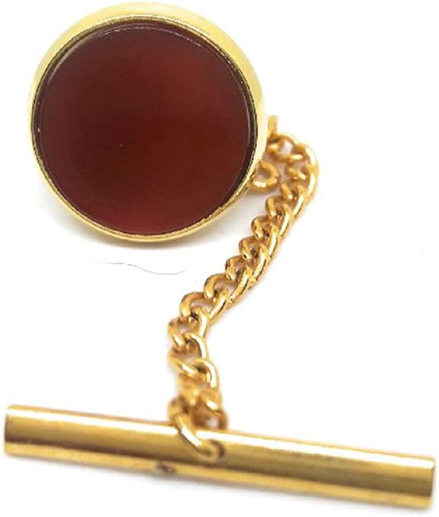 Menz Jewelry Accs Carnelian TIE TACK Manufacturer Direct Pricing