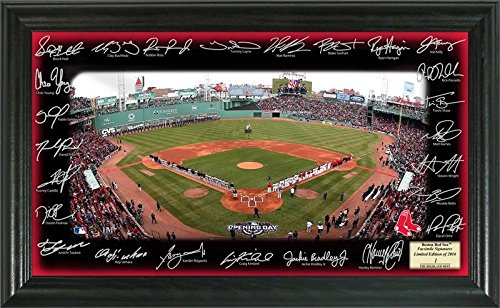 (The Highland Mint MLB Boston Red Sox 2016 Signature Field Plaque, 24