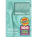 robin egg blue Robin's Egg Blue, Big Party Pack, Mid Weight Forks, 100 Per Pack