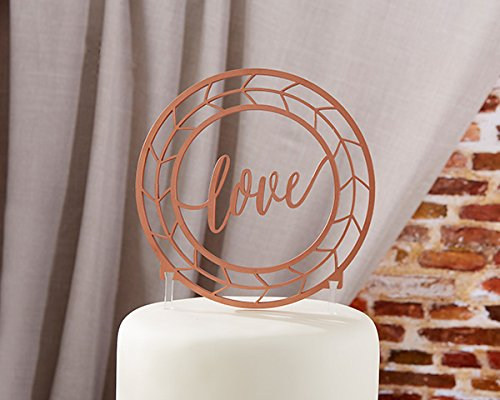 8 Geometric Copper Love Cake Toppers by Kate Aspen (Image #1)