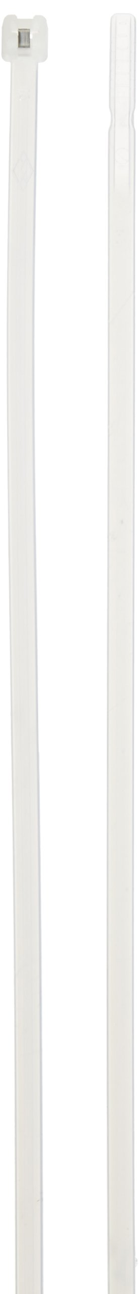 Cable Tie with Stainless Steel Barb, 50 Tensile Strength, 11'' Length, Natural