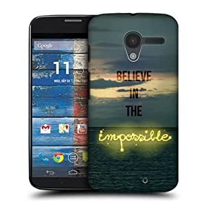 Impossible Words To Live By Hard Back Case Cover For Motorola Moto X