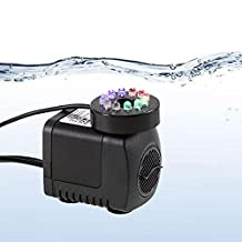 IRISH Submersible Water Pump with 12 LED Light for Indoor Fountain, Pool, Garden, Pond, Fish Tank, Aquarium, Hydroponic, Statuary