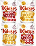 Whisps Cheese Crisps Variety Pack (2.12oz) Cheddar Cheese Crisps & Asiago Pepperjack Cheese Crisps (2 Of Each) For Sale