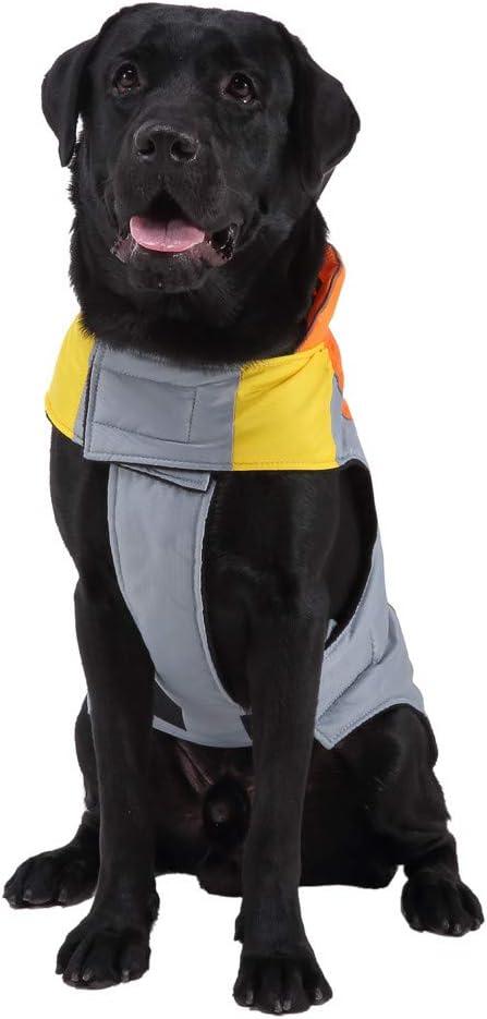 Gro/ße Hunde Bekleidung f/ür Kleine f/ür Outdoor Haustier Hunderegenmantel Wasserdicht Reflektierende Regenjacke Warm Hundemantel Winddicht Regenschutz Kleidung Hund Jacken Overalls Mittel