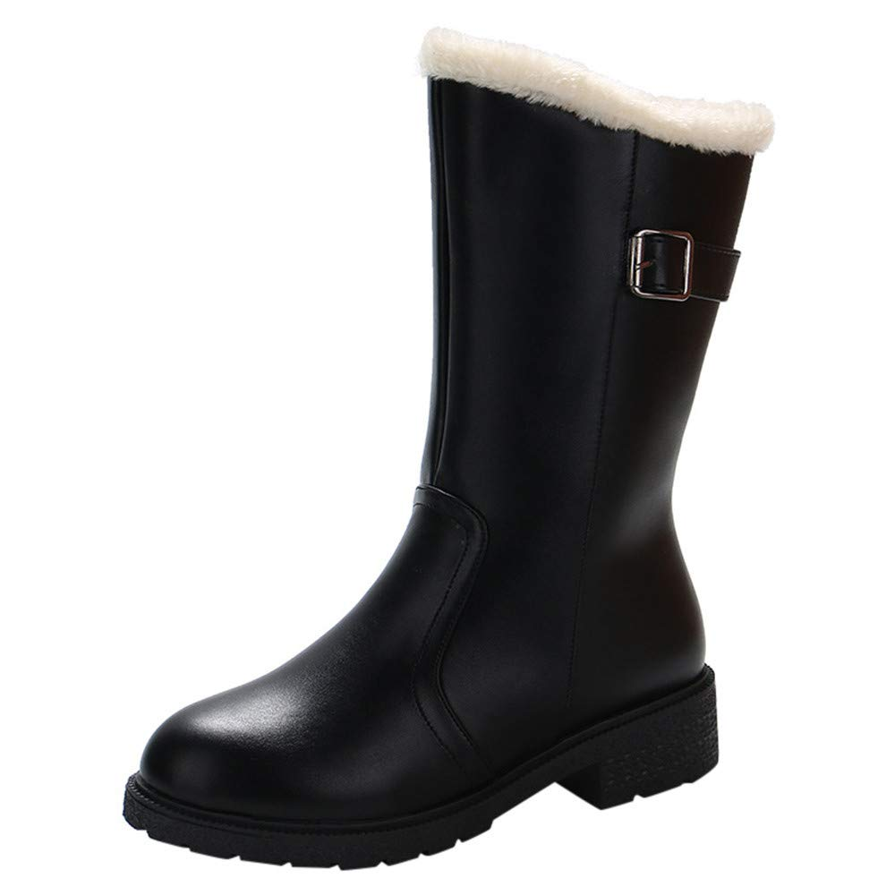 GIFC Fashion Women's Winter Martin Mid-Calf Snow Rain Boots Ladies Footwear Warm Shoes