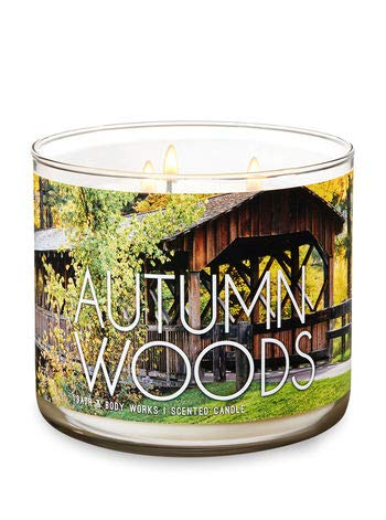 - Bath and Body Works 3-Wick Scented Candle Autumn Woods 14.5 Ounce