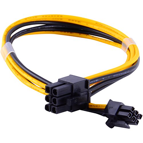 JacobsParts PCI Express Mini 6-pin to 6-pin PCI-e Video Card Power Cable for Apple Mac Pro Tower / Power Mac G5 ()