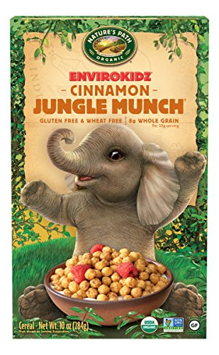 Envirokidz Organic Gluten-Free Cereal, Cinnamon Jungle Munch, 10 Ounce Box