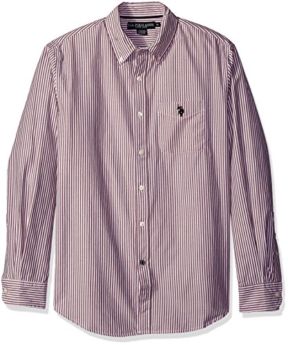 U.S. Polo Assn. Men's Long Sleeve Poplin Striped Sport Shirt