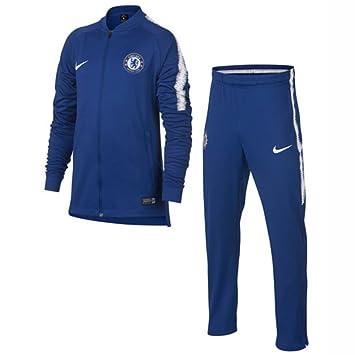 Nike 2018-2019 Chelsea Dry Tracksuit (Blue) - Kids: Amazon.es: Deportes y aire libre