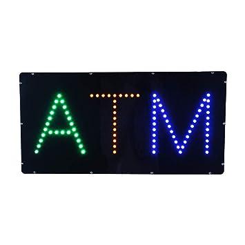 Amazon.com: Ultra brillante ATM abierto negocios de neón LED ...