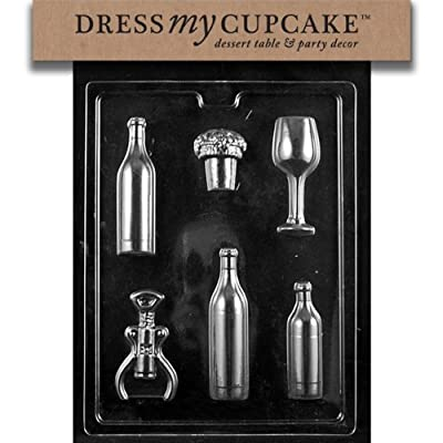 Dress My Cupcake Chocolate Candy Mold, Wine Bundle for Specialty Box