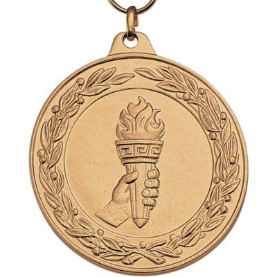 achievement-torch-medal-gold-with-neck-ribbon