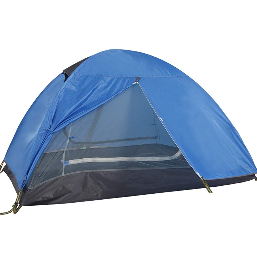 YaNanHome Doppeltes Winddichtes Wasserdichtes Zelt des Zeltes im Freien 2 Zeltzelt der Leute Multi optional (Farbe : Blau, Größe : 210  140  120cm)