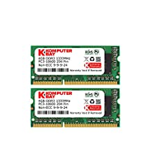 Komputerbay 8GB (2x 4GB) DDR3 SODIMM (204 pin) 1333MHz PC3-10600 8 GB (9-9-9-24) Laptop Memory Kit - Retail Package- (Not for Mac)