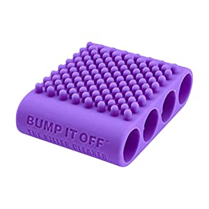 Bump It Off Silicone Cleaning Scrubber Brush for Fabric, Kitchen, Pets, Body, Beauty | Purple