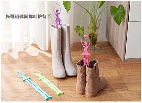 GreenSun(TM) Home love foldable clip length boots shoes boots stays carriage deodorant shoes boots folder support