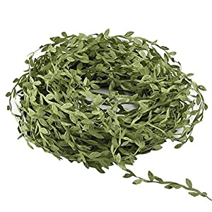 2344 Artificial Vines 132 Ft Fake Hanging Plants Silk Ivy Garlands Simulation Foliage Rattan Green Leaves Ribbon Wreath Accessory Wedding Wall Crafts Party Decor 108