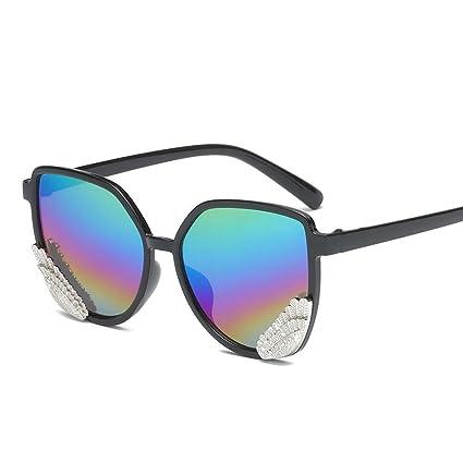 BiuTeFang Gafas de Sol Mujer Hombre Polarizadas Elegante alas Gafas de Sol Hombres y Mujeres Jalea
