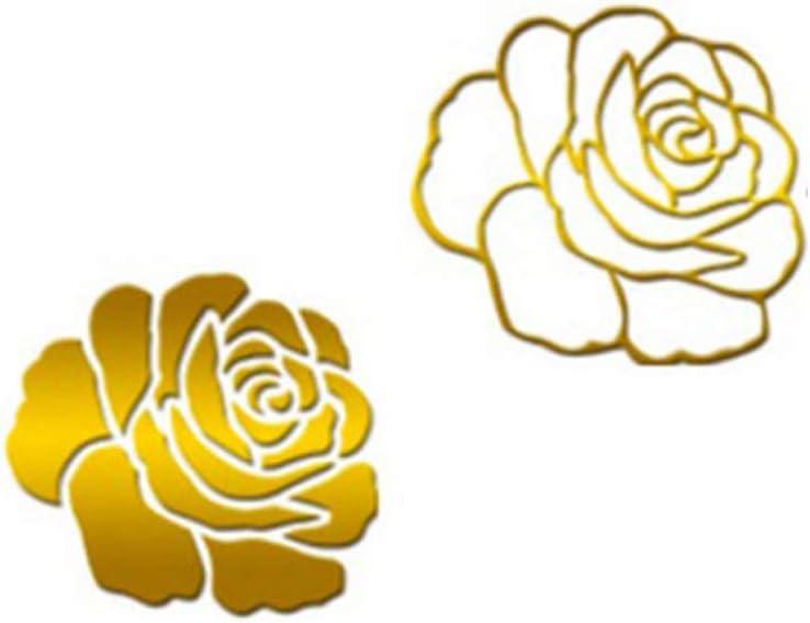 PRENKIN Wallpaper Rose 3D Specchio Muro Adesivi Fai da Te Autoadesivo della Stanza della Decorazione della casa Fiore Mirrord Decalcomanie della Camera Acrilico della Decorazione della casa