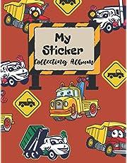 My Sticker Collecting Album - Blank Sticker Book: Blank Sticker Album, Sticker Album For Collecting Stickers For Adults, Blank Sticker Collecting Album, Sticker Collecting Album Boys, Cute Cars & Trucks Cover