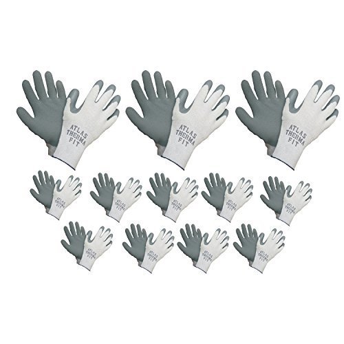 Atlas 451 Therma-Fit Cold Weather Insulated Rubber Medium Work Gloves, 12-Pairs by Atlas