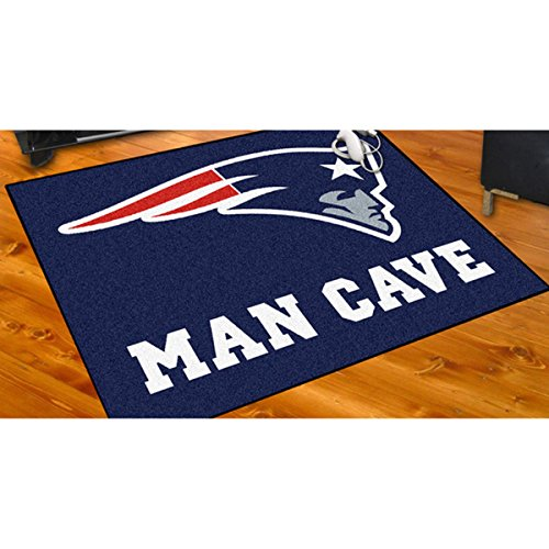 Man Cave NFL Superbowl LI Champion New England Patriots Themed Area Rug, The Pats Super Bowl 51 Football Team Spirit Winner Carpet, NE Patriot Sports Logo Fan Merchandise, Navy Blue Red Grey White (Nfl Football Team Area Rug)