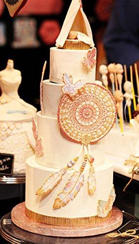 (Set of 2) Sakolla Dream Catcher Cake Decoration 3D Big Feathers Silicone Mold Fondant Mold DIY Cake Decorating Tool Candy Chocolate Mold by Sakolla (Image #4)