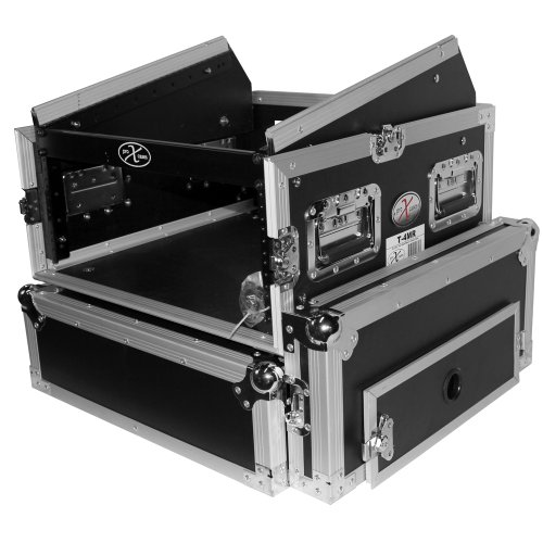 Amplifier Case Combo (ProX Cases T-4MRSS 4U Space Amp 10U Slanted Top Mixer DJ Combo Road Gig Ready Flight Case)