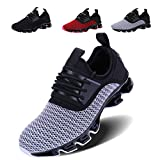 VOEN Casual Walking Shoes Men Blade Outdoor Sport Sneakers Mesh Breathable Fashion Shoe Grey Size 44