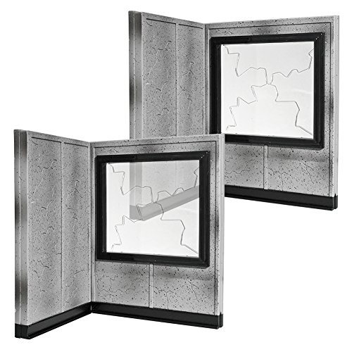 Set of 2 Breakable Window and Wall Playsets for WWE Wrestling Action Figures by Figures Toy Company